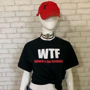 WTF (Where's The Fireball) black t-shirt - M